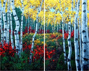 Autumn Air (diptych) by Jennifer Vranes