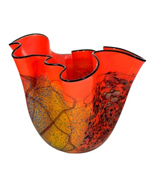 Orange Wavy Vase/Copper Iridescent, 2005