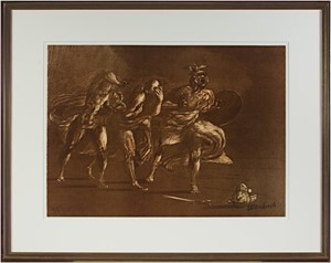 Homage a Leonard de Vinci (Figures Advancing), 1978