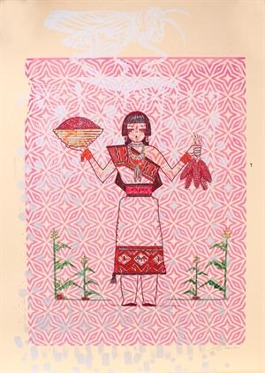 Red Corn Maiden (Framed), 2020