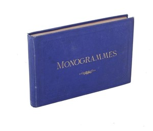 FRENCH BESPOKE MONOGRAM SAMPLE BOOK, French, 1868