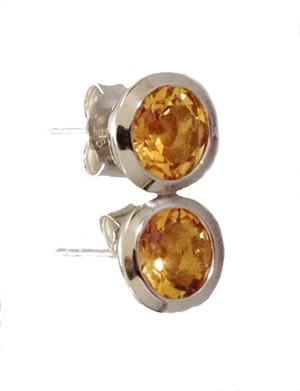 Earrings - Sterling Silver & Citrine E3136CT
