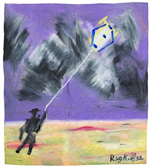 Figure with Kite, 2000