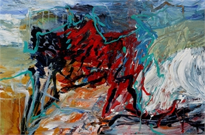 Landscape in Red and Green, 2019