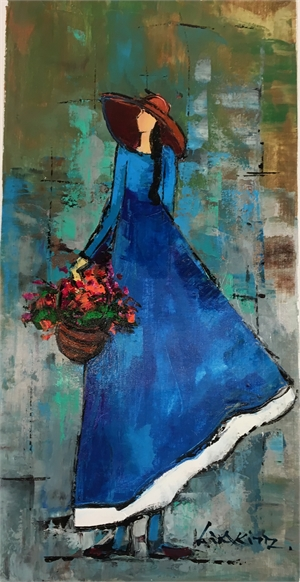 LADY IN A BLUE DRESS