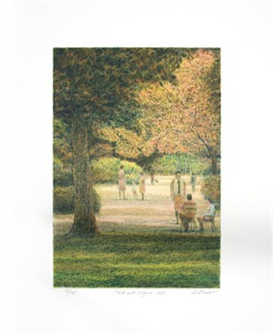 Park With Figures by Harold Altman