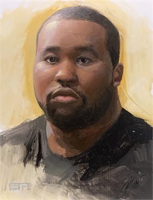 Self Portrait with Black Shirt, 2020