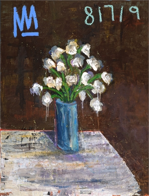 Floral Still Life with Blue Vase, 2019