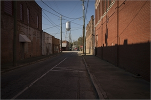 Late Harvest: Street & Water Tower, Quitman, GA by Forest McMullin