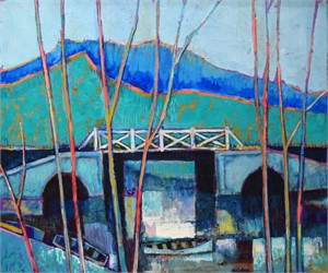 Untitled (Bridge with Mountains), c. 1970
