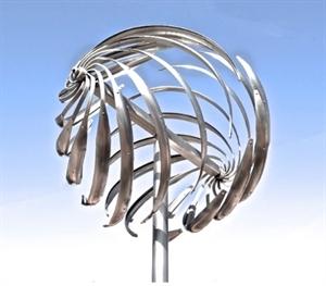 "Spiral Sphere - Natural Patina 28""x28""x106"", 2020"
