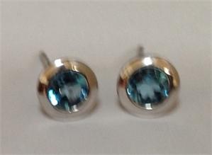 Earrings - Sterling Silver & Blue Topaz E3136BT