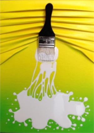 """""""Lets Paint Mini"""" Yellow/green Ombre, 2019"""