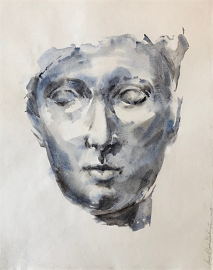 Face in Blue and Grey, 2019