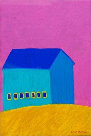 Blue Barn Pink Sky