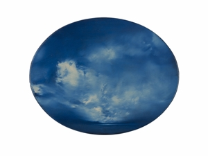 Elliptical Blue Study , 2018