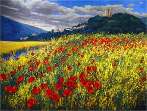 Tuscan Poppies by Jennifer Vranes