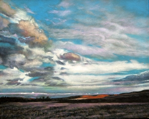 Flint Hills Sunset, Southwest View II by Barbara Waterman-Peters