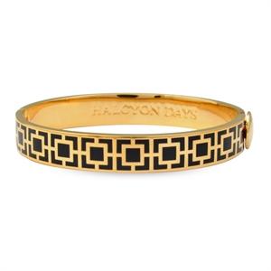 Mosaic Black & Gold Bangle