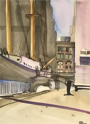Sailing Ship, South Street Wharf