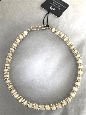Necklace - Moonstone & Gold Vermeil  #8671, 2020