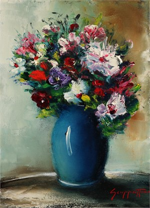 Blue Vase Bouquet , 2016