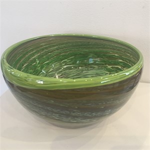 Green / Neutrals Swirl Bowl