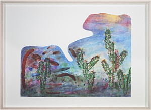 Southwest Sunset Paper Clip Cactus Palette, 2008