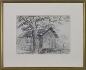 Old Cabin Near Big Cedar Lake, 1952