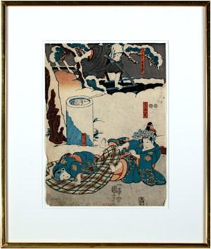 Tokijiro, Midori, and Katsumi, 1851