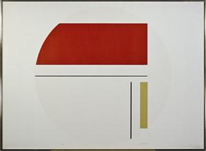 Red & White Tondo (28/125), c1970