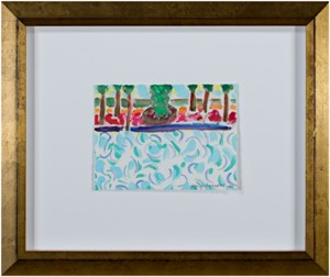 Famous Artist Series: Homage to David Hockney - Tri-color Water, 2010