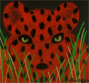 SOLD 'Small Red Leopard'