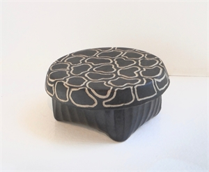 Medium Round Box 3 by Larry Halvorsen