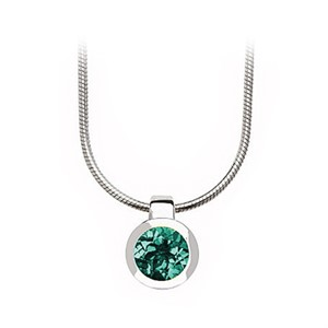 Pendant - Bezel Set Sterling Silver & Green Quartz