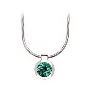 Pendant - Bezel Set Sterling Silver & Green Quartz P6972