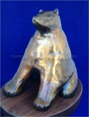 Brown Bear - Bronze with swivel base