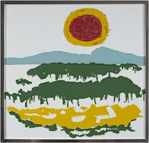 Red & Yellow Sun With Smooth Yellow Field, c.1960's