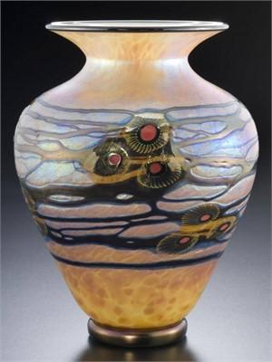 Gold Art & Crafts Tall Vase-S