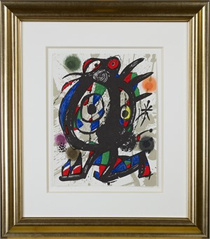"Original Lithograph I from ""Miro Lithographs III, Maeght Publisher"", 1977"