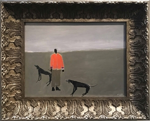 Man with Two Good Hounds, 2019