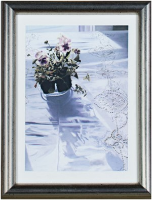 Still Life - Pansies on a Lace Tablecloth, 2012