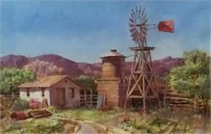 Old Western Windmill