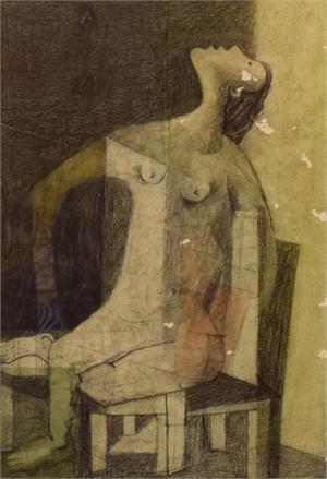 Untitled (Seated Figure), c. 1949