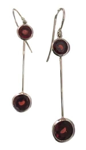 Earring-Double Mod Garnet