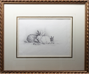 Three Rabbits, Rothschild Collection by William Hall