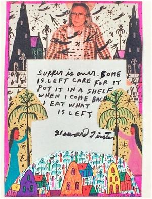 Menu with Poem, 1995