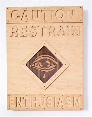 Street Sign: Restrain Enthusiasm