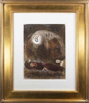Ruth aux Pieds de Booz (Ruth at the Feet of Boaz), M 248/271 by Marc Chagall