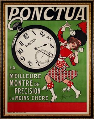 Ponctua (Clock), c. 1910